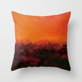 """The Burning Fields"" Digital Painting // Fine Art Print Throw Pillow"