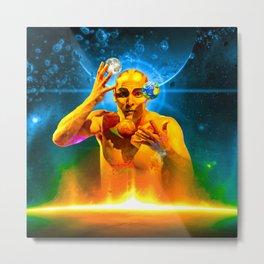 Cosmic Juggling Metal Print