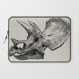 Dinosaur Skeleton Ink Pen Illustration Triceratops Laptop Sleeve