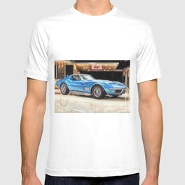 Vintage 1969 Ocean blue 427 Stingray Vette Big Block T-shirt
