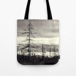 trees in a marsh Tote Bag