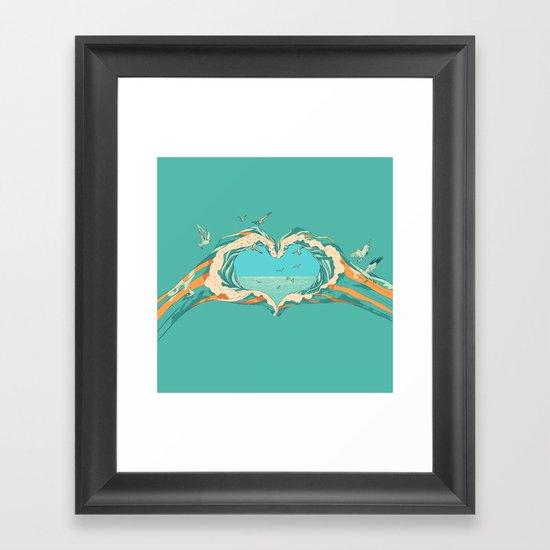 My Heart & The sea Framed Art Print