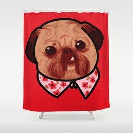 Toofy Pug  Shower Curtain
