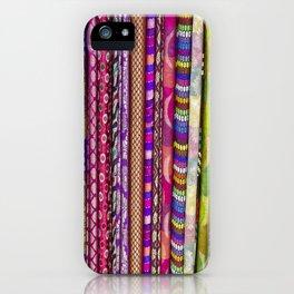 Sari Textiles from Dubai Market iPhone Case