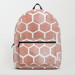 Rose gold bee cube Backpack