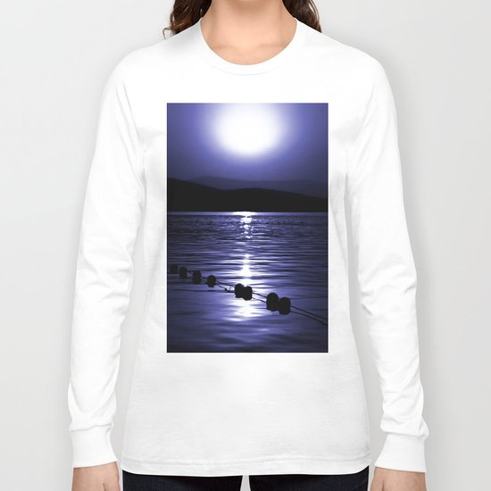 Turkish Sunrise in Blue Long Sleeve T-shirt