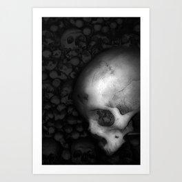 Kostnice Beinhaus Skull II Art Print