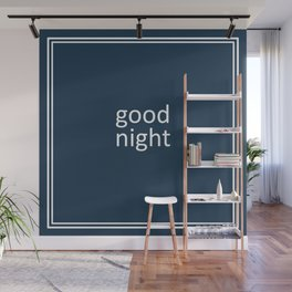 words: goodnight Wall Mural