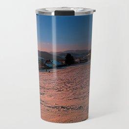 A winter wonderland sundown | landscape photography Travel Mug