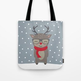 Merry Christmas Deer Tote Bag