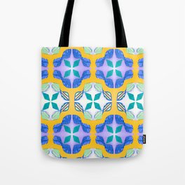 Bow Tie Tile in purple Tote Bag