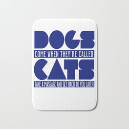 Dogs vs Cats Bath Mat