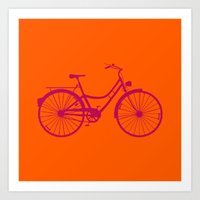 bicycle Art Prints featuring Bicycle by Mr & Mrs Quirynen