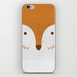 Mr Fleecy Fox iPhone Skin