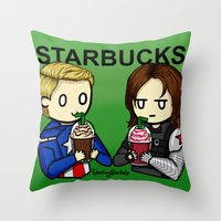 stucky Throw Pillows featuring Stucky by ShockingBlankets