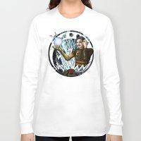 tesla Long Sleeve T-shirts featuring Tesla by stephane Dietkiewicz