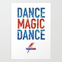 Bowie Ball: Dance Magic Dance Art Print