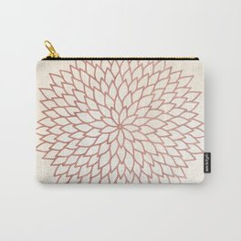 Mandala Flower Rose Gold on Cream Carry-All Pouch
