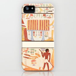 Ancient - Giza 1900, Wall painting 4 iPhone Case