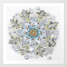 Faux Snow Mandala Art Print