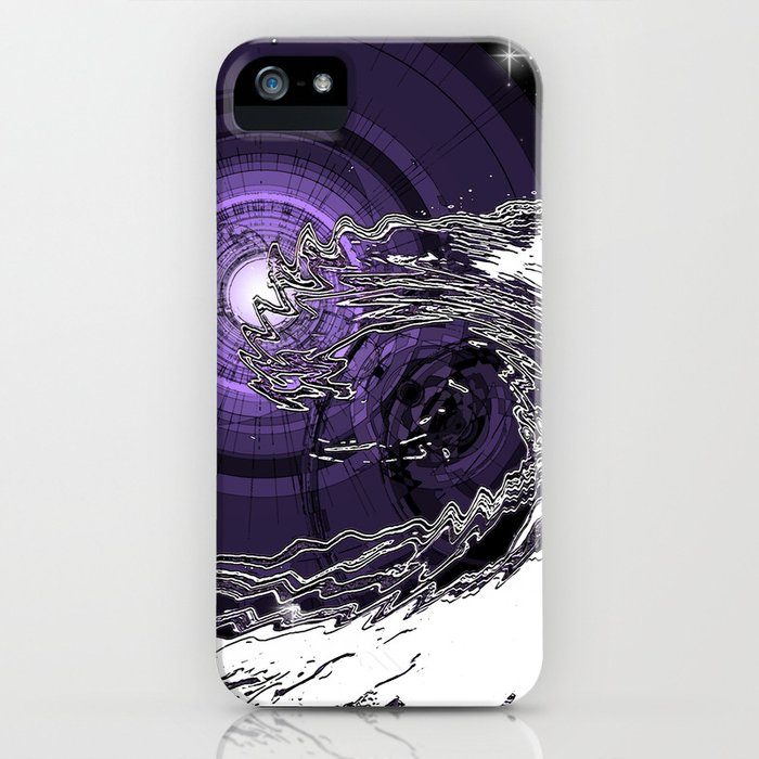 """Ice Storm and Stars"" Print iPhone Case"