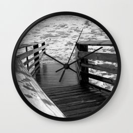 Step into the Sea Wall Clock