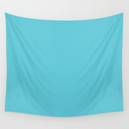 Turquoise Blue Radiance | Solid Colour Wall Tapestry