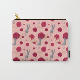 Climbing cats and pink flowers Carry-All Pouch