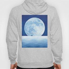Full moon & paper boat Hoody