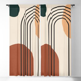 geometric abstract 59 Blackout Curtain