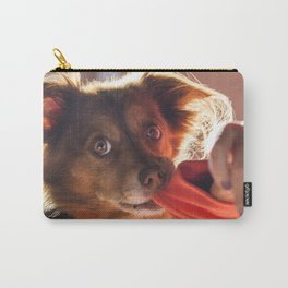 Dog playing with his owner Carry-All Pouch