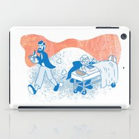 freud iPad Cases featuring Freud and Halsted by Dustin Davis