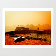Mars National Monument Art Print