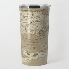 Vintage Map of Bermuda and Jamaica (1767) Travel Mug