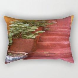 Blue, Red and Green Rectangular Pillow