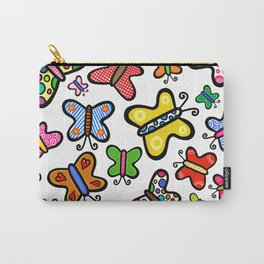 Doodle Butterflies Carry-All Pouch