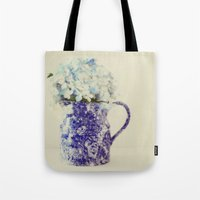 hydrangea Tote Bags featuring Hydrangea by Beverly LeFevre
