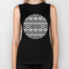 Aztec Geometric Print - Black Biker Tank