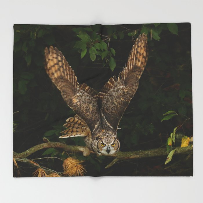 Night Owl Keepers curates On My Radar Throw Blanket by owlgoddessphotography at Society 6