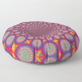 BBQSHOES: Wheels Of Time II Fractal Mandala Floor Pillow