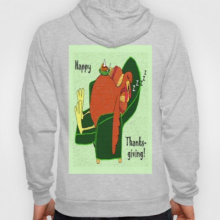 Sleeping Turkey with Pumpkin Pie, green  Hoody