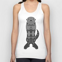 otters Tank Tops featuring Sea Otter by Hinterlund