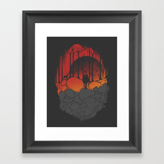 Dark Sunshine Framed Art Print