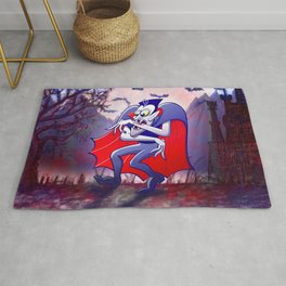 Dracula is Desperately Hungry Rug