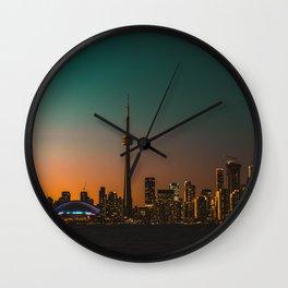 Colorful Toronto Wall Clock