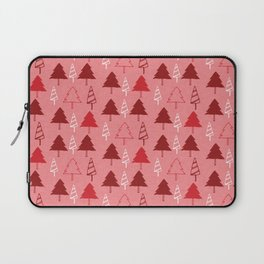 Christmas Tree Red and Pink Laptop Sleeve
