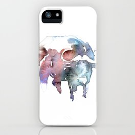 African buffalo / Abstract animal portrait. iPhone Case
