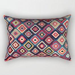 Talish  Antique Moghan Southeast Caucasus Kilim Print Rectangular Pillow