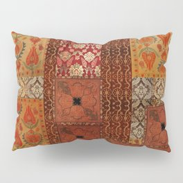 Vintage textile patches Pillow Sham