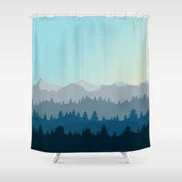 Face This Mountain (No Text) Shower Curtain